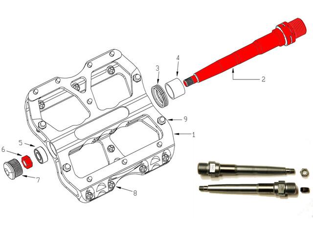 Reverse Achsen-Set für Escape Pedal 2-tlg